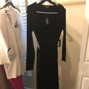 🖤 Express Open-Back Black Maxi Dress 🆕